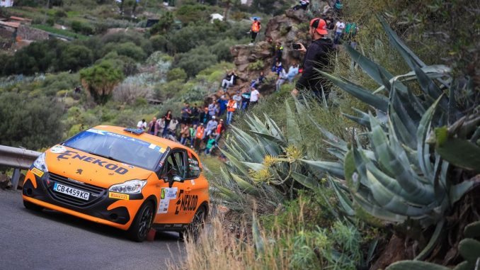 47 GRIGOROV Jr Grigor, YANAKIEV Yanaki, GRIGOR GRIGOROV KONSTANTINOvV, Peugeot 208 R2, action during the 2019 European Rally Championship ERC Rally Islas Canarias, from May 2 to 4, at Las Palmas, Spain - Photo Jorge Cunha / DPPI